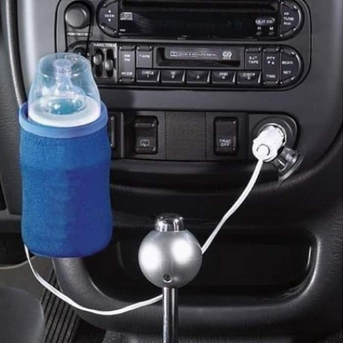 image contains a car bottle warmer
