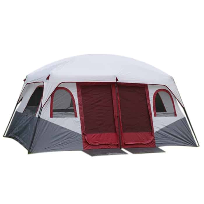 image contains a family tent
