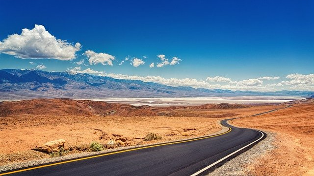A view of a desert road